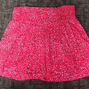 Red and White Dot Mini Skirt